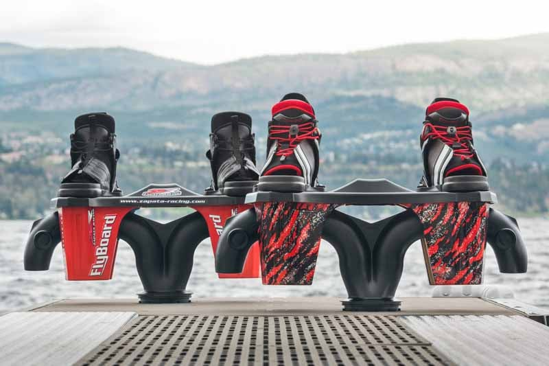 New Flyboarding equipment on a dock in Kelowna BC Canada