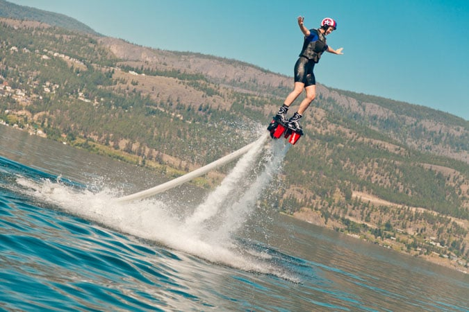 Flyboarding downtown Kelowna