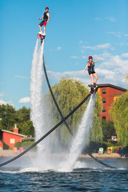 group flyboarding in Kelowna