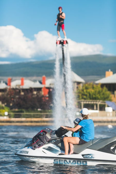 Watch flyboarding in Kelowna