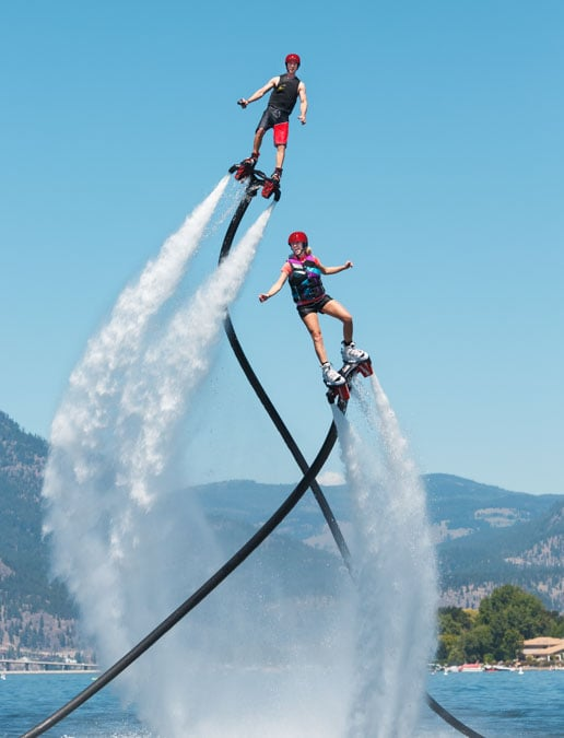 Group flyboarding in Kelowna BC